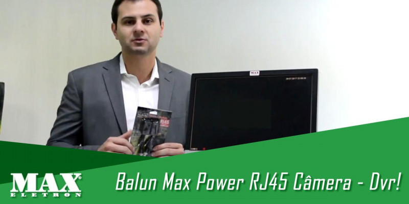 Confira sobre o Balun Max Power RJ45 Câmera - Dvr
