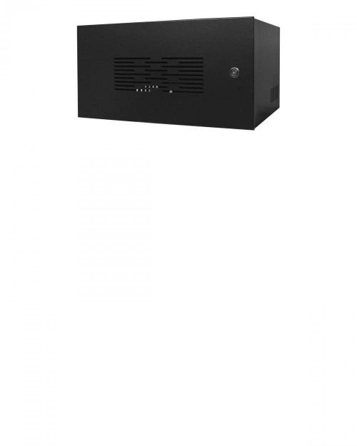 Mini Rack 5U x 350mm Economic Preto c/ Porta Ventilada
