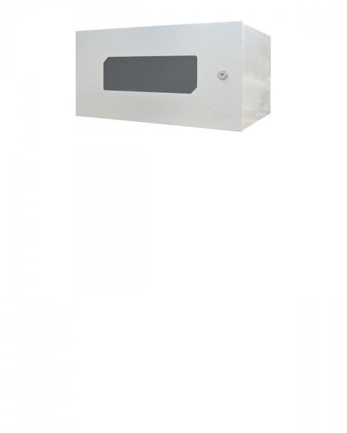 Mini Rack 5U X 350mm Economic Porta c/ Visor Acrílico Branco