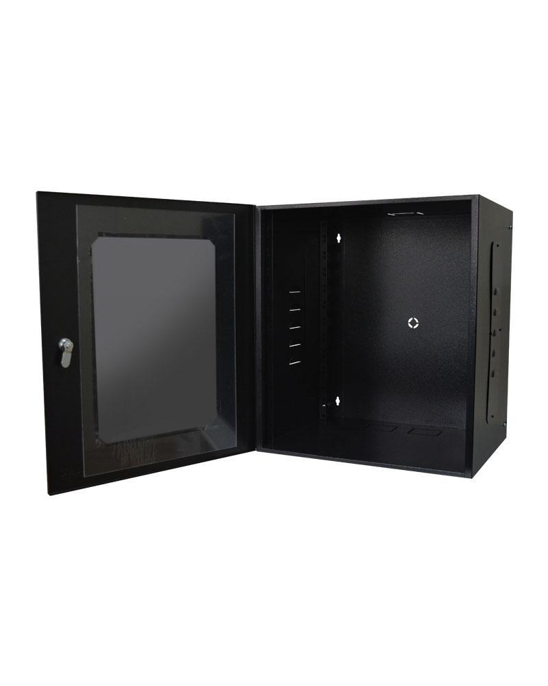 Mini Rack 12U x 400mm Economic Porta com Visor em Acrílico