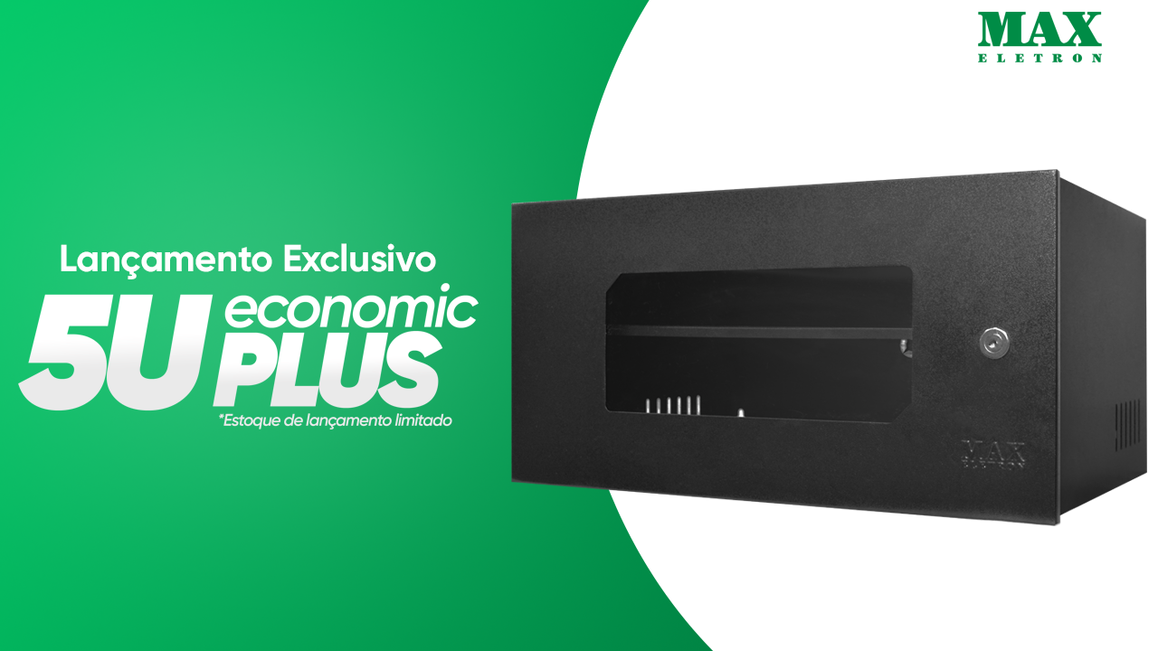 Lançamento Exclusivo da Max Eletron - Mini Rack 5U Economic Plus