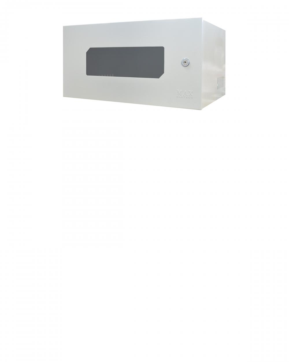 Mini Rack 5U X 350mm Economic Porta c/ Visor Acrílico Branco