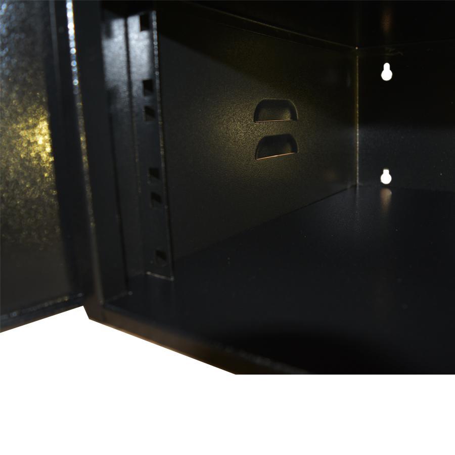 Mini Rack 3U x 350mm Economic Porta c/ Visor Acrílico Preto