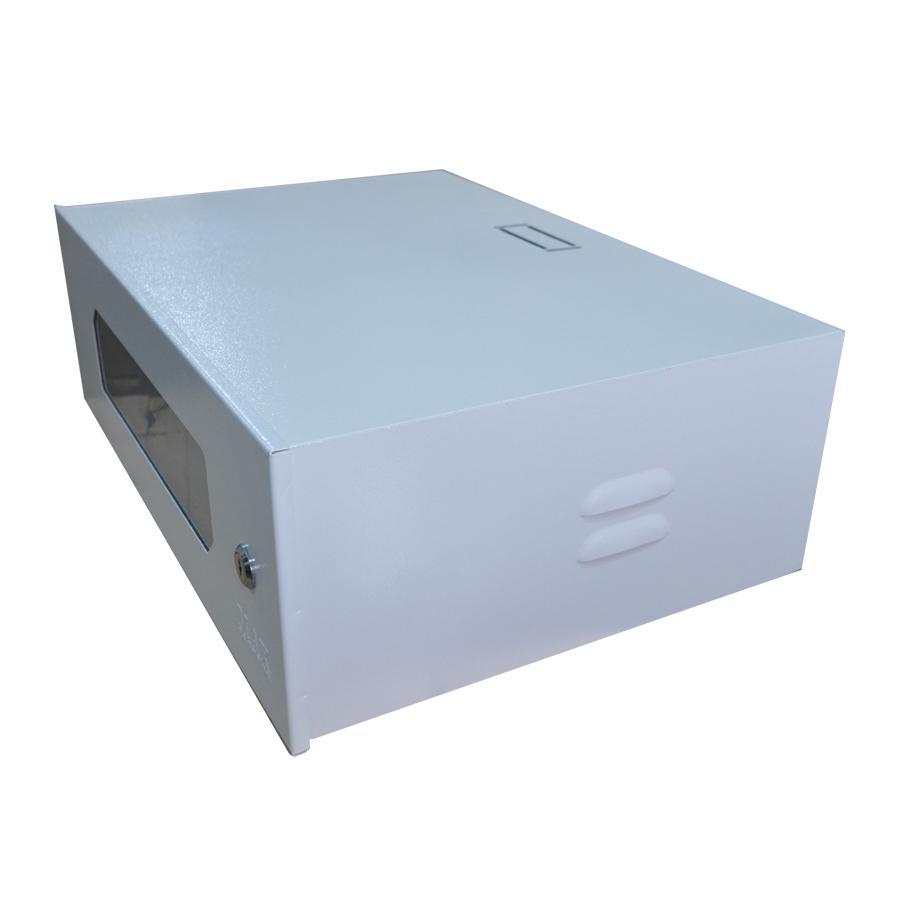 Mini Rack 3U x 350mm Economic Porta c/ Visor Acrílico Branco